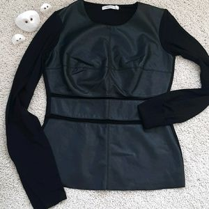 Bailey 44 Faux Leather long sleeve